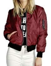 Lavnis Women's Lightweight Bomber Jacket Casual Long Sleeve Fall Coat Zip Up Outerwear Windbreaker