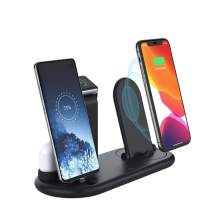TIMESS 7 in 1 QI Wireless Charging Dock Station,Desk Charger Organizer with Nightlamp for Airpods/Apple Watch 5/4/3/2/Apple Pencil Charging 2 3 /iPhone 12 11 Pro Max X Xs XR Xs Max 8 8 Plus