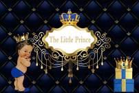 Baocicco 5x3ft Polyester Backdrop Baby Shower Backdrop It's a Prince Royal Blue Crown Blue Headboard Royal Texture Decor Photography Background Royal Celebration Little Prince Portrait Studio