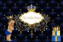 Baocicco 8x6.5ft Backdrop Baby Shower Backdrop It's a Prince Royal Blue Crown Blue Headboard Royal Texture Decor Photography Background Royal Celebration Little Prince Portrait Studio
