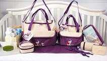 10 Pieces Diaper Bag SetLimited time Offer (Lavender with Elephant)