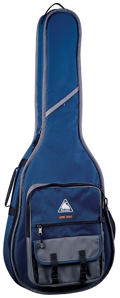 Boulder CB-361BL Alpine Deluxe Tenor/Baby Blueridge Guitar Gig Bag - Navy Blue