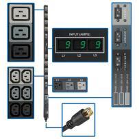 Tripp Lite Metered PDU, 30A, 48 Outlets (36 C13, 6 C19, 6 5-15/20R), 208/120V, L21-30P, 0U Vertical Rack-Mount Power, TAA (PDU3MV6L2130)