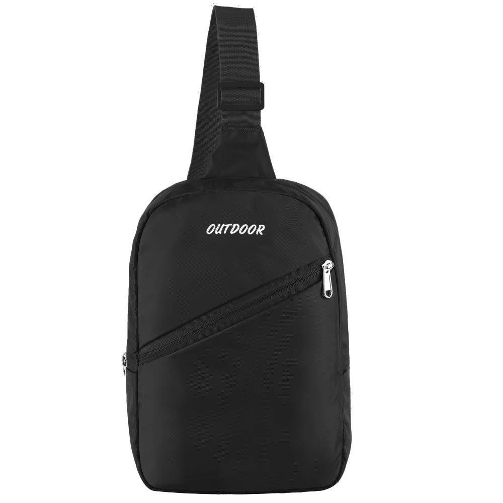 LUSAF Sling Backpack Ultra Lightweight Small Water/Tear Resistant Crossbody Shoulder Bag Mini Daypack Chest Bag for Men &Women