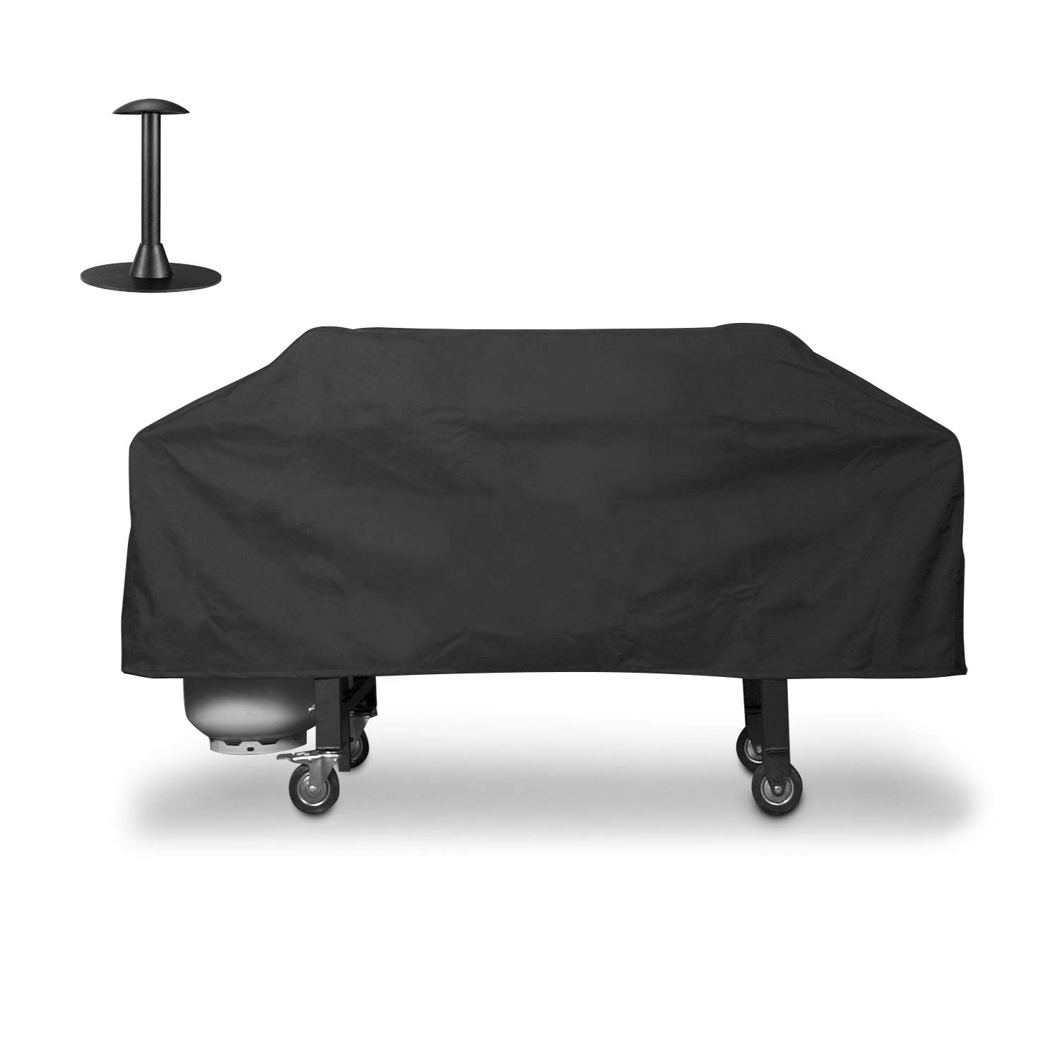 Unicook 36 inch Blackstone Grill Griddle Cover, Flat Top Cooking Station Grill Cover with Sealed Seam, Outdoor Heavy Duty Waterproof Stove Top Cover, Includes Support Pole to Prevent Water Pooling
