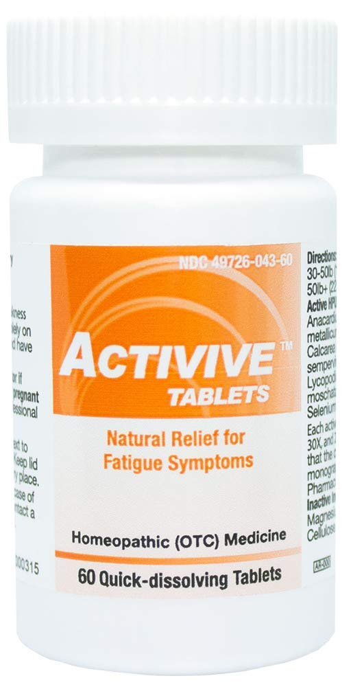 HelloLife Activive Tablets - Natural Relief for Fatigue Symptoms - for Safe, Temporary Relief of: Fatigue + Weakness + Brain Fog + Forgetfulness + Depressed Mood + Low Motivation