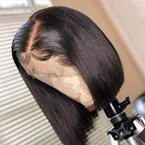 """Bob Wig, 130% Density 13x4 Short Lace Front Bob Wigs Ali Moda Straight Human Hair for Black Women Pre Plucked Hairline with Baby Hair (14"""", Nature Color)"""