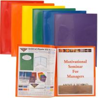 StoreSMART Plastic Archival Folders Primary Colors 30-Pack: 5 Each of Six Bright Colors (R900PCP30)