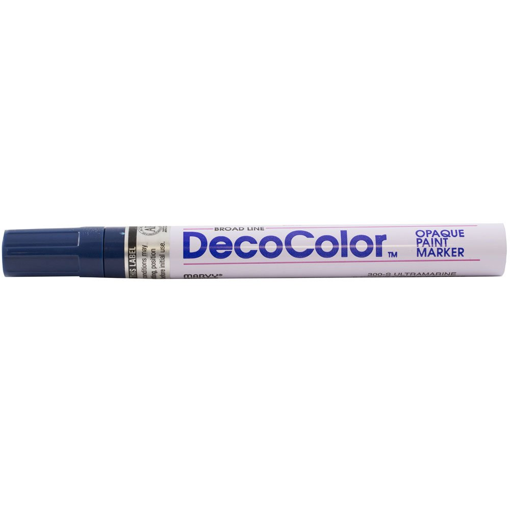 JAM PAPER Broad Point Opaque Paint Markers - Ultramarine - Sold Individually