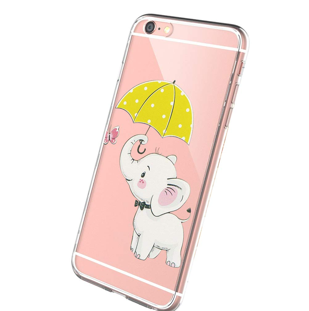 Wouier Case Compatible with iPhone 6 6s/6plus 6splus TPU Soft Silicone Transparent Clear Back Cover (iPhone6 6S 4.7inch, Color 24)