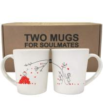 BOLDLOFT Love You Madly His and Hers Coffee Mugs-Matching Couple Mugs Set, Valentines Day Gifts,Boyfriend Gifts,Husband Gifts,For Him and Her Gifts,His and Hers Gifts,Couples Gifts,Relationship Gifts