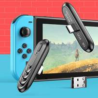 Bluetooth Adapter for Nintendo Switch/Lite, Jelava BT 5.0 Wireless Audio Transmitter Adapter with USB C Connector Low Latency Suitable for PS4 Switch Lite TV PC, Plug & Play, No Sound Lag