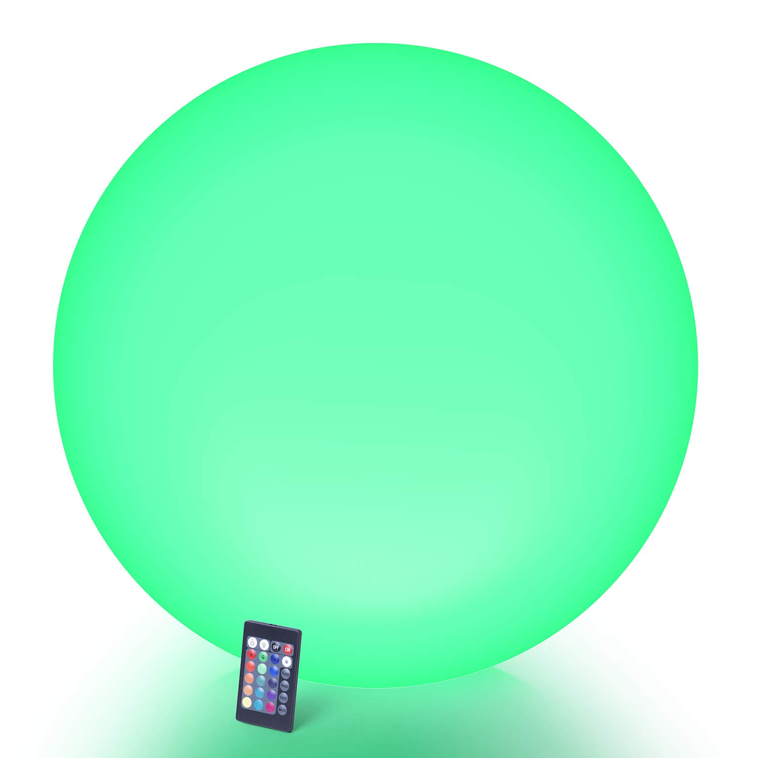 LOFTEK LED Dimmable Large Floating Pool Lights Ball, 24-inch Cordless Light Up Ball with Remote, 16 RGB Colors & 4 Lighting Modes, Rechargeable and Waterproof, Perfect for Pool, Garden, Party Decor