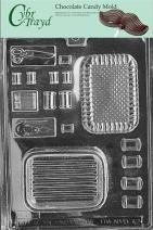 Cybrtrayd Life of the Party D042 Sewing Kit Pour Box Thread Needle Scissors Chocolate Candy Mold in Sealed Protective Poly Bag Imprinted with Copyrighted Cybrtrayd Molding Instructions