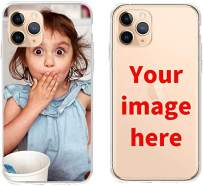 ranipobo Custom Phone Case for iPhone 11 Pro Max, Personalized Photo Phone Case, Soft Protective TPU Bumper, Customized Cover Add Image Painted Print Text Logo Picture