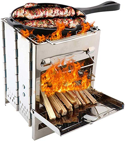 Family Camping Toaster Folding Compact 4 Slice Rack For Gas Hob Cooking