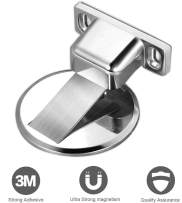 Magnetic Door Stop, Invisible Magnetic Door Stopper and Floor Mount Magnets Door Holder, No Drilling Stainless Steel Doorstop (1 Pack)