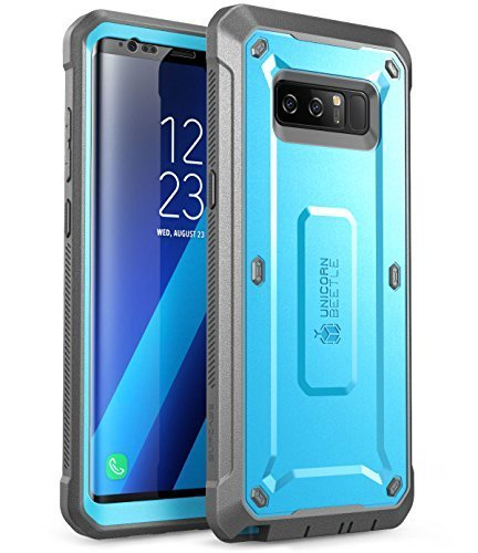 SUPCASE Unicorn Beetle Shield Series Case Designed for Galaxy Note 8, with Built-in Screen Protector Full-Body Rugged Holster Case for Galaxy Note 8 (2017 Release) (Blue)