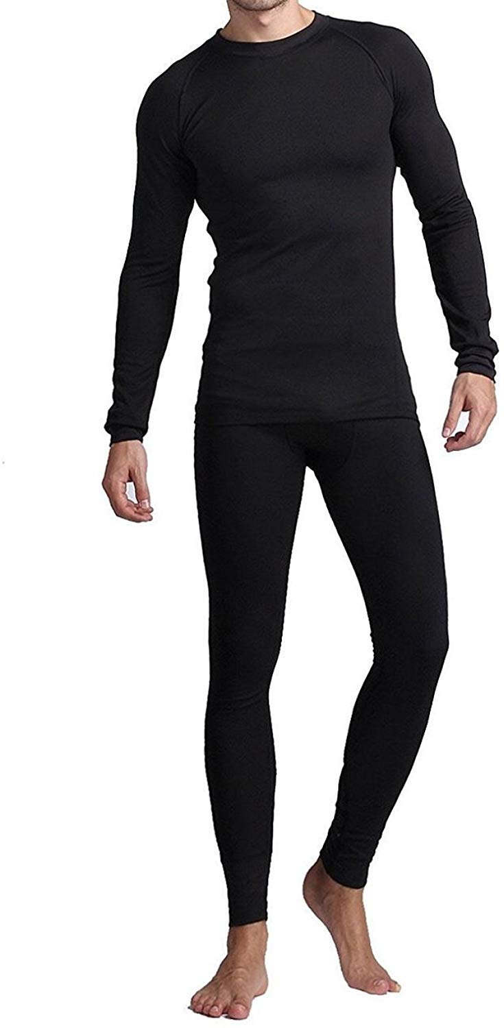 Mens Thermal Underwear Set, Fleece Long Johns for Men Extreme Cold Winter
