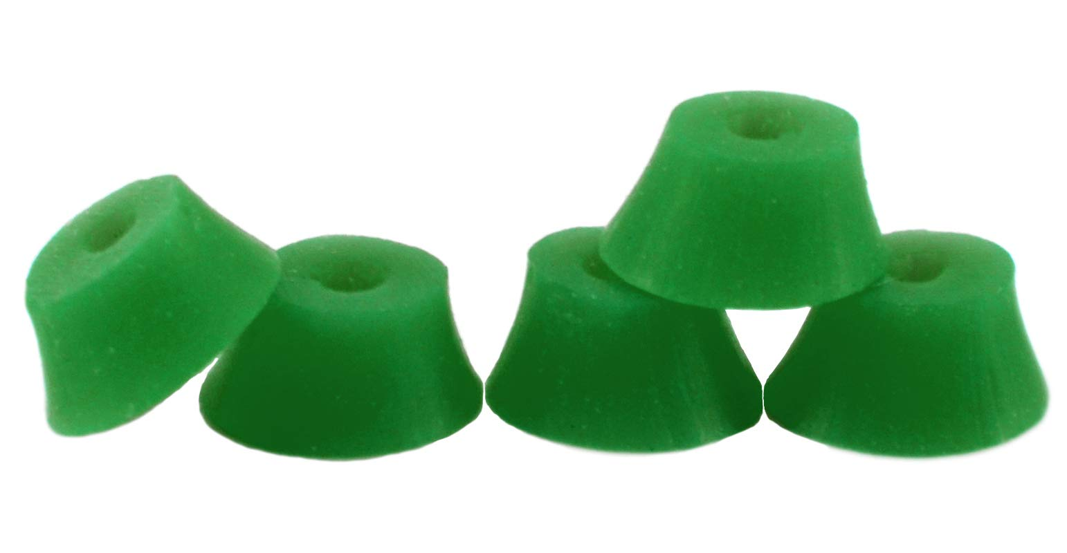 Teak Tuning Bubble Bushings, Professional Shaped Fingerboard Tuning, Dark Green, Pack of 5