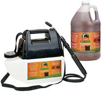 Just Scentsational MCBPS-1BRN Bark Mulch Colorant with Battery Powered Sprayer, Brown, 128oz (1 Gallon)