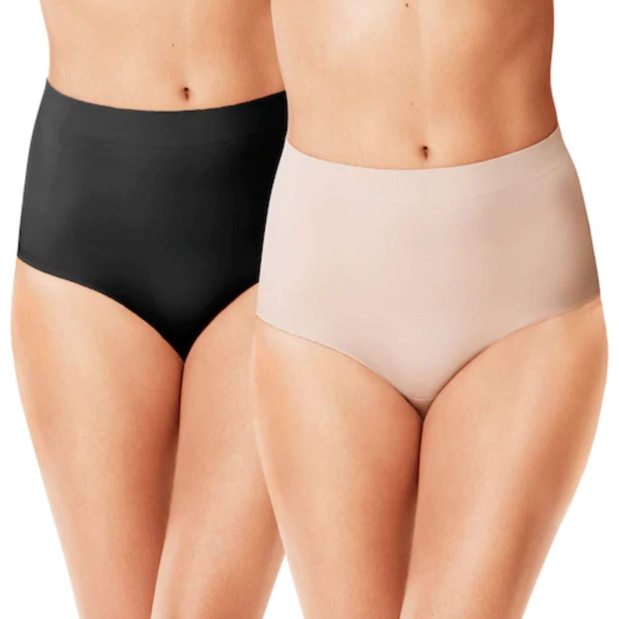 Warner's Women's No Lines. No Lie. Tummy Control Compression Brief Underwear (2 Pack)