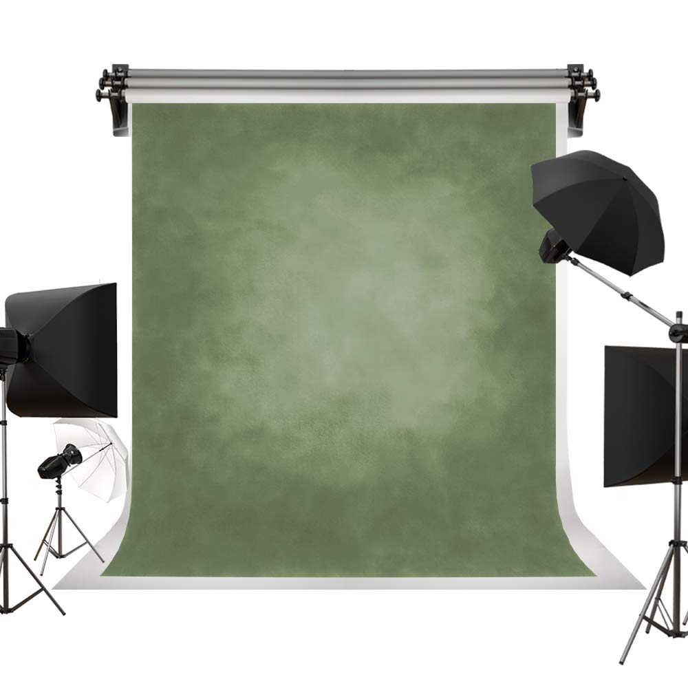 Kate 8x8ft/2.5x2.5m Retro Green Textured Backdrop Large Portrait Photography Backdrops Abstract Background Photography Studio Props