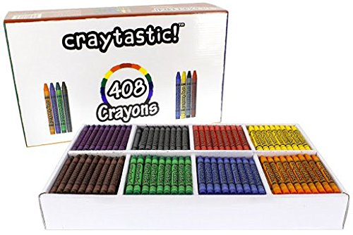 408-Count Crayon Premium Class Pack, Best-Buy Assortment (8 Colors, Full Size 3.5 Inch) Safety Tested Compliant with ASTM D-4236