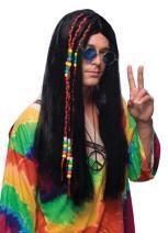 Rubie's Costume Long Brown Hippie Wig