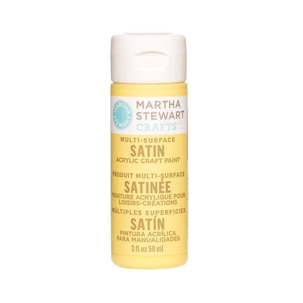 Martha Stewart Crafts Martha Stewart Multi-Surface Satin Acrylic Yellow Jacket, 2 oz Paint