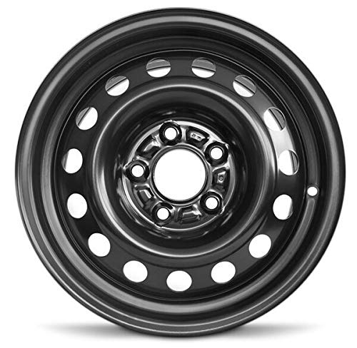 Road Ready Car Wheel for 1999-2000 Mazda Millenia 15 Inch Black 5 Lug Steel Rim Fits R15 Tire - Exact OEM Replacement - Full-Size Spare