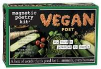 Magnetic Poetry Vegan Poet Word Magnet Kit