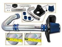 Cold Air Intake System with Heat Shield Kit + Filter Combo BLUE Compatible For 11-16 Dodge Challenger/Dodge Charger/Chrysler 300 3.6L V6