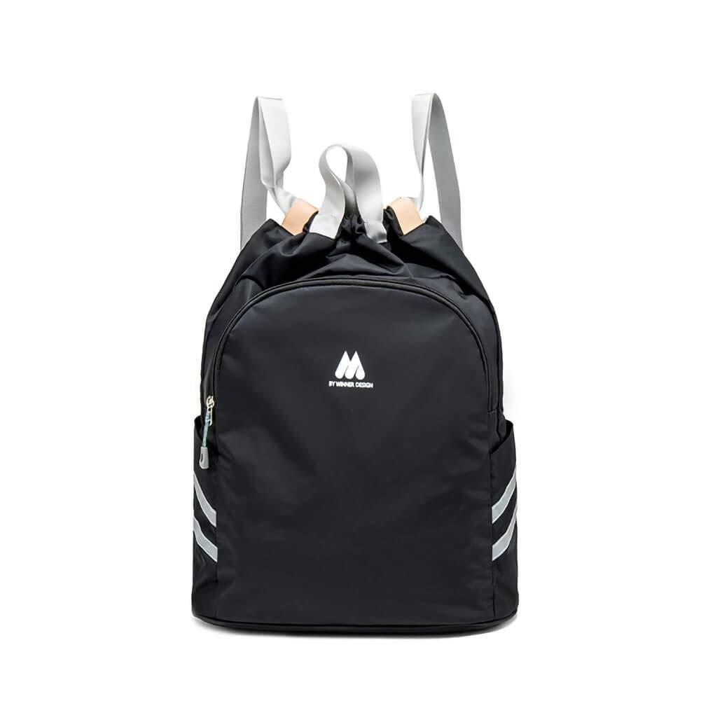 Women Sports Backpack Drawstring Gym Bag with Wet Pocket Anti-Theft Pocket Travel Backpacks Water Resistant Workout Bag (Black)