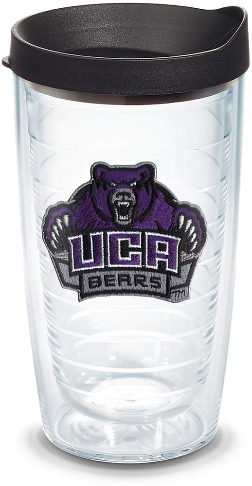 Tervis 1136009 Central Arkansas Bears Primary Logo Tumbler with Emblem and Black Lid 16oz, Clear