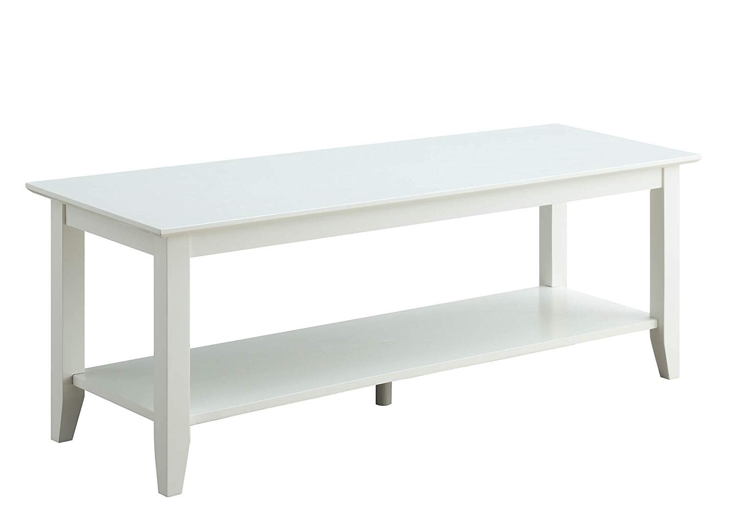 Convenience Concepts American Heritage Coffee Table with Shelf, White