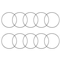 uxcell O-Rings Nitrile Rubber 120mm Inner Diameter 125.3mm OD 2.65mm Width Round Seal Gasket 10 Pcs