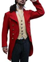 Karlywindow Mens Medieval Steampunk Tailcoat Jacket Open Front Gothic Victorian Frock Coat Halloween Costume