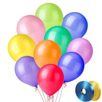 100 PCS Party Balloons, 12 Inch High Quality Assorted Colorful Balloons, Thickened Color Balloons Set for Party Decoration or Arch Decoration (10 Colors X 10 PCS)