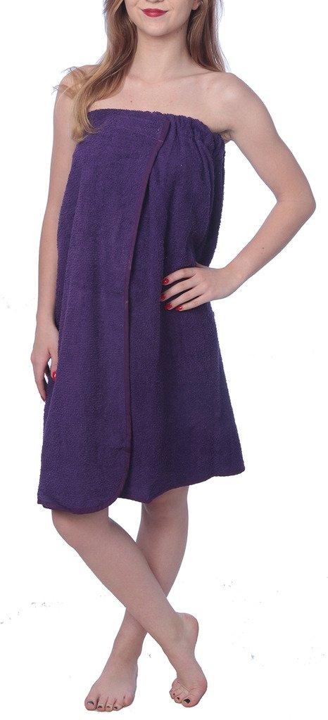 Beverly Rock Women's Shower & Bath Cotton Terrey Water Absorbent Towel Wrap