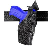Safariland, 6360, SLS/ALS, Level 3 Retention Duty Holster, Fits: Glock 19, 23, 32 with Light, Mid-Ride, Basketweave Black, Right Hand