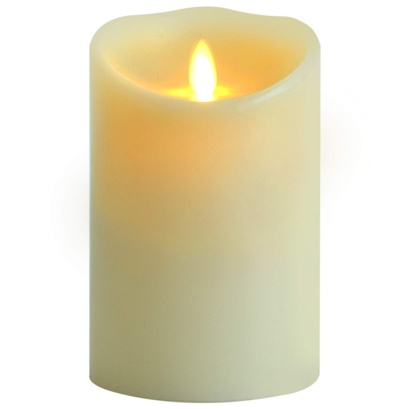 """AGLARY Flickering Flameless Candle Battery Operated with Vanilla Scented, Timer Cycling, Real Wax 5"""" Ivory, for Home, Wedding, Birthday, Parties and Christmas Decoration"""