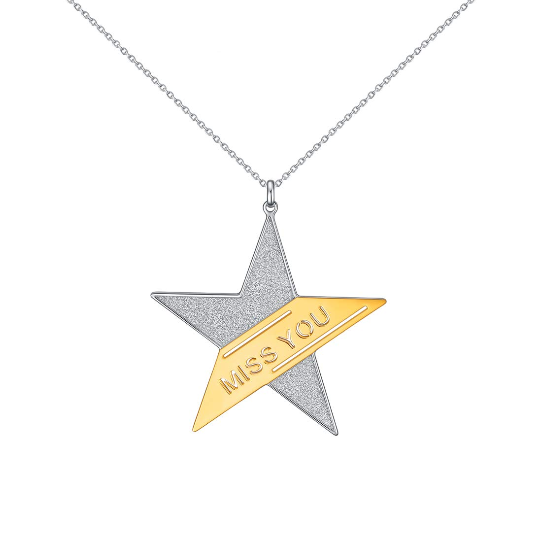 E Round Pendant Necklace Disc Necklace for Women Rose Gold-Plated Natural Shell/Sun & Star Layered Necklace