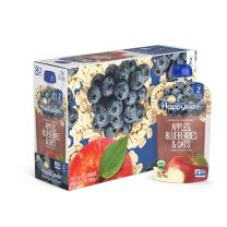 Happy Baby Organic Clearly Crafted Stage 2 Baby Food Apples, Blueberries & Oats, 4 Ounce (16 Count)