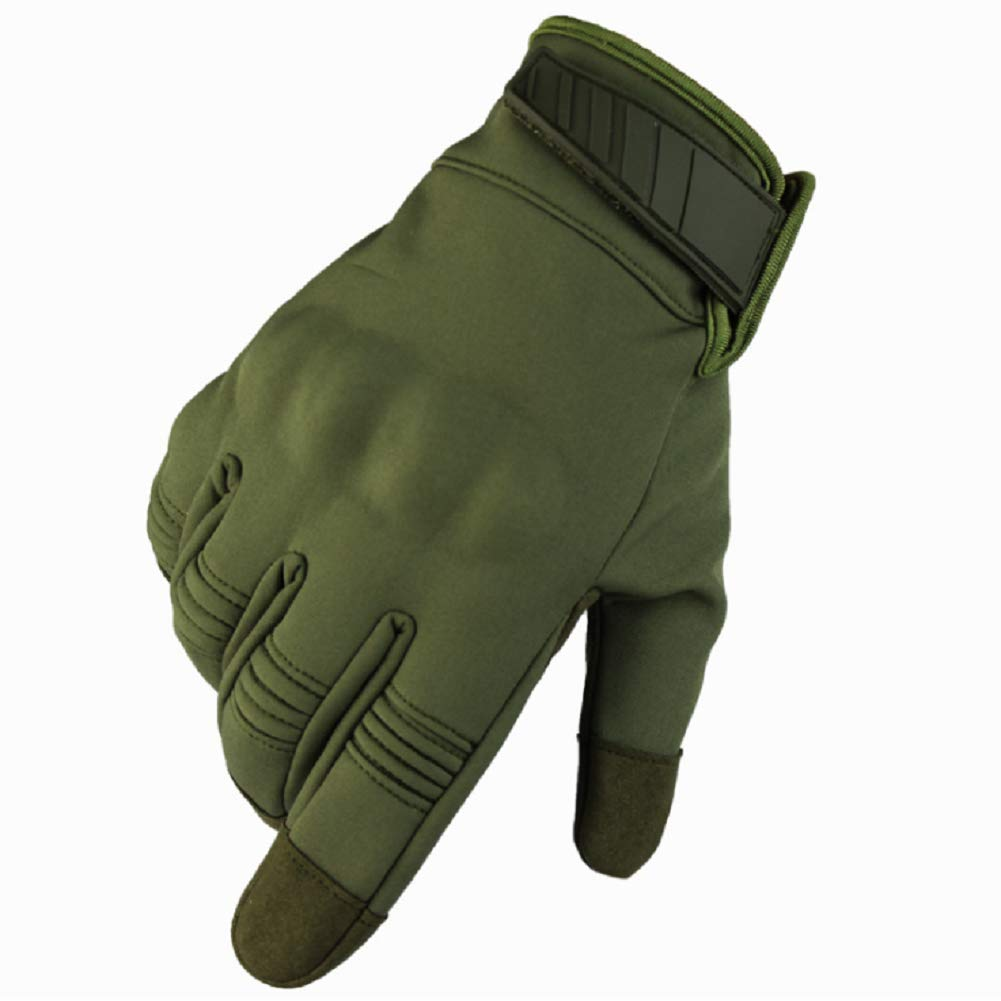 HYCOPROT Outdoor Full Finger Waterproof Windproof Tactical Gloves with Flexible Touch Screen Hard Knuckle Protect for Cycling Motorcycle Climbing Gardening Hunting Gear