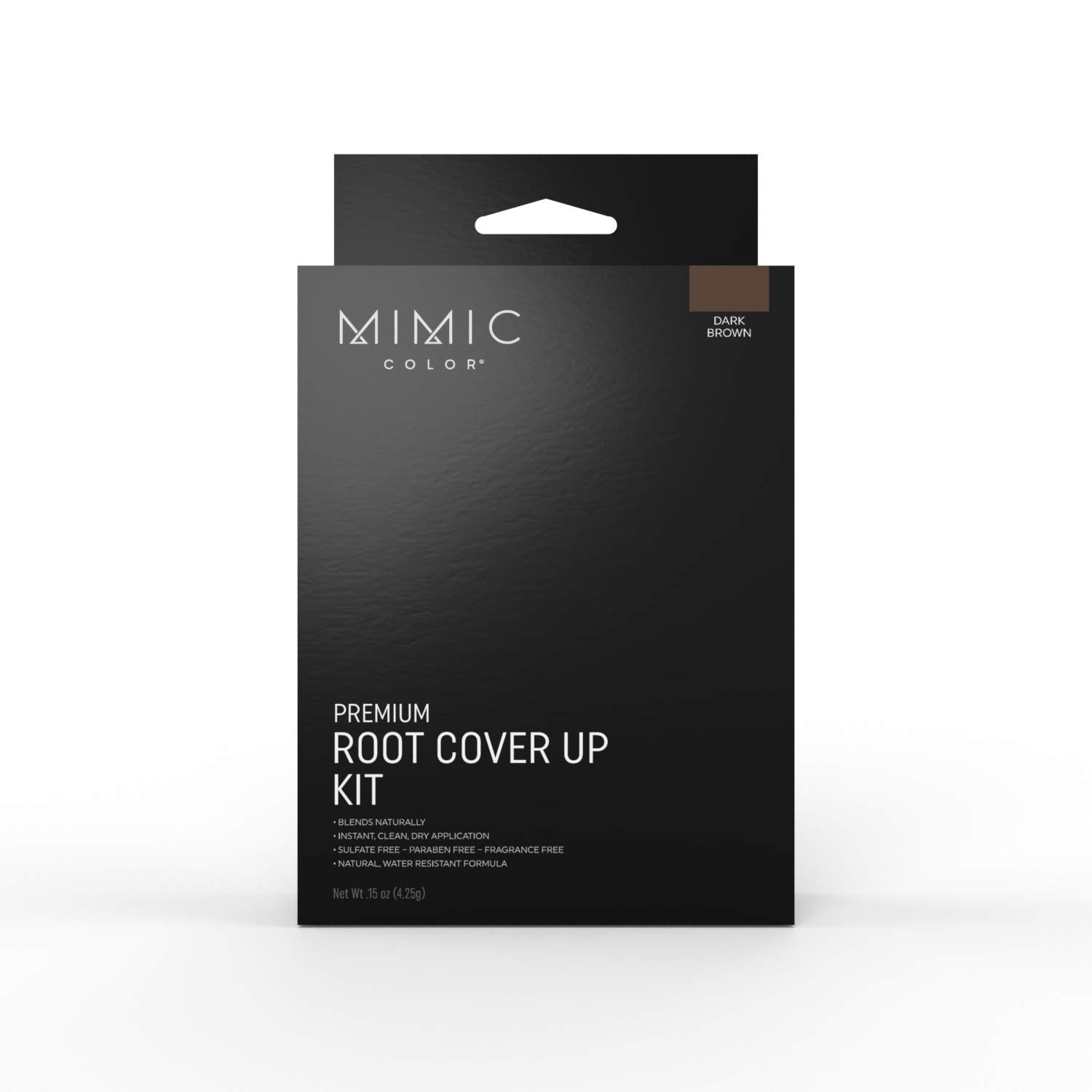Mimic Color Root Cover Up for Hair Grey Hair Concealer Hair Root Color Touch Up Temporary Hair Color Covers Gray (FULL KIT, DARK BROWN)
