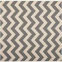 """Safavieh Courtyard Collection CY6244-246 Grey and Beige Indoor/ Outdoor Square Area Rug (5'3"""" Square)"""