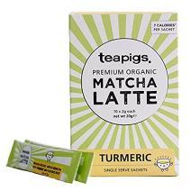 teapigs Organic Matcha Sachets, Turmeric, 10 Count