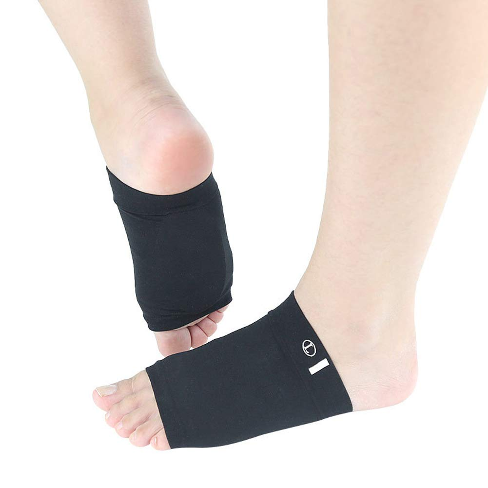 Hmulan Compression Arch Support Sleeves Sock with Comfort Gel Pad,Arch Brace for Flat Feet Cushions for Women & Men, Plantar Fasciitis Sleeves Shoe Insert Insole, Helps Foot Pain Relief, 1 Pair