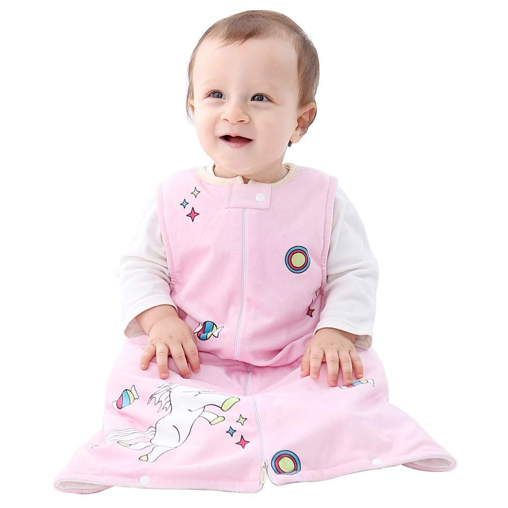 IDGIRL Baby Sleep Bag,Fleece Wearable Blanket Sleeveless 12-24 Months Soft Warm,Pink Horse